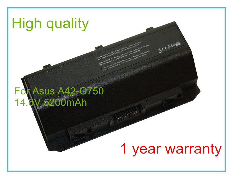Replacement for G750JW G750 G750Y47JX A42-G750 G750Y47JX-BL G750J G750JW Laptop Battery Free Shipping
