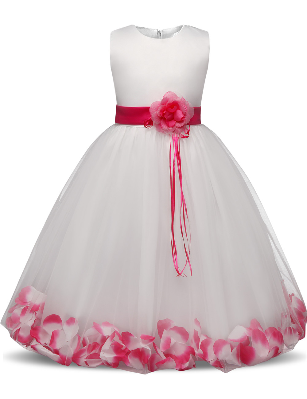 Flower Children's Dresses Girls Kids Clothes For Wedding 8 10 Years Birthday Dress Little Girl Evening Party Dress Baby Costume baby girls party dress 2017 wedding sleeveless teens girl dresses kids clothes children dress for 5 6 7 8 9 10 11 12 13 14 years