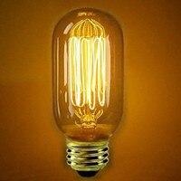 LightInBox Free Shipping Vintage Edison Light Bulb Lamp 2pcs T45 40W E27 Retro Industry Incandescent Bulb
