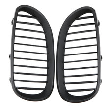 For BMW 5 Series E60 E61 M5 2004-2009 520d 525 Car Styling Front Grille Kidney Grill Racing Matte Black 1 Pair