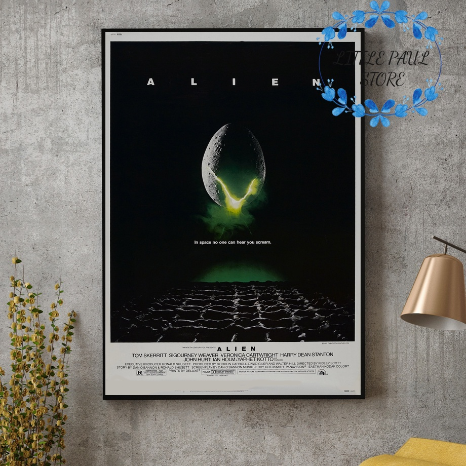 Classic <font><b>Alien</b></font> (<font><b>1979</b></font>) Movie Silk Art Poster Wall Pictures for Living Room No Frame image