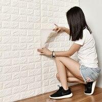PE Foam 3D Wall Decals Safety Home Decor Wall Paper DIY Wall Decor Brick Living Room Children's bedroom Decorative Sticker
