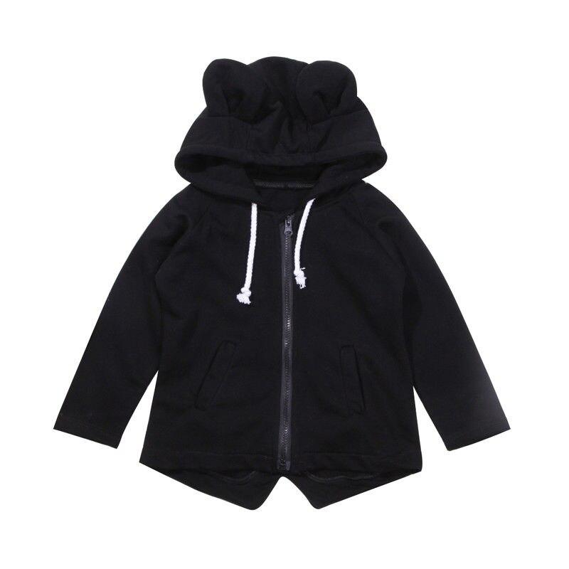 2018 Nette Kinder Baby Boy Kapuzen 3d Bär Winter Warme Jacke Oberbekleidung Baby Hoodies 1-7 T Kleidung Gute QualitäT