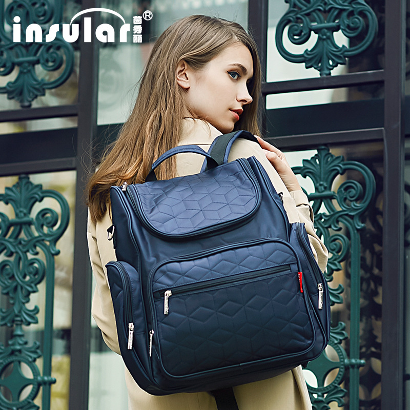 INSULAR Mommy Diaper Bag Large Capacity Baby Nappy Bags Desiger Nursing Bag Fashion Travel Backpack Baby Care Bag For Mom Dad цена 2017