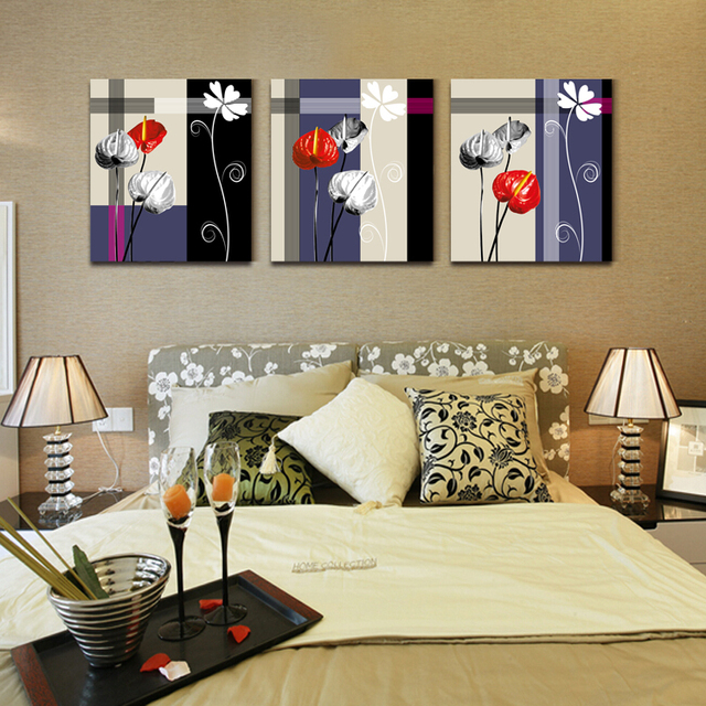 No furniture living room Design Retro Furniture Styles Flowers Decorative Painting Living Room No Frame Canvas Hanging Paintings Wall Decor Aliexpress Retro Furniture Styles Flowers Decorative Painting Living Room No