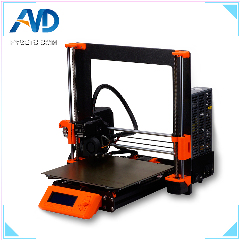1 Set Complete DIY Clone <font><b>Prusa</b></font> <font><b>i3</b></font> <font><b>MK3</b></font> <font><b>3D</b></font> <font><b>Printer</b></font> Full Kit With Aluminum Alloy Frame Profile Magnetic Heat Bed Motor Einsy board image