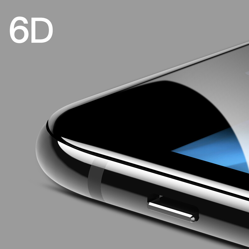 6D Protective tempered Glass for iPhone XS MAX Suntaiho Cold Carving Screen Protector glass Curved Edge for iPhone 7 Plus XR 6 8
