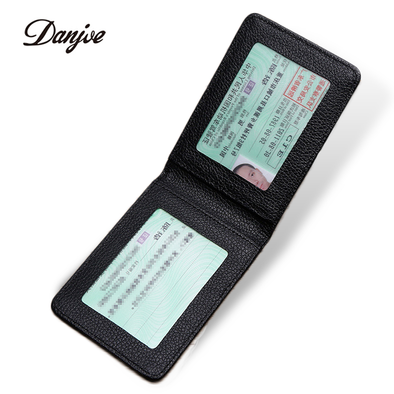 DANJUE Driver License Holder Genuine Leather Cover For Car Driving Documents Business Card Holder ID Card Holder Men Women