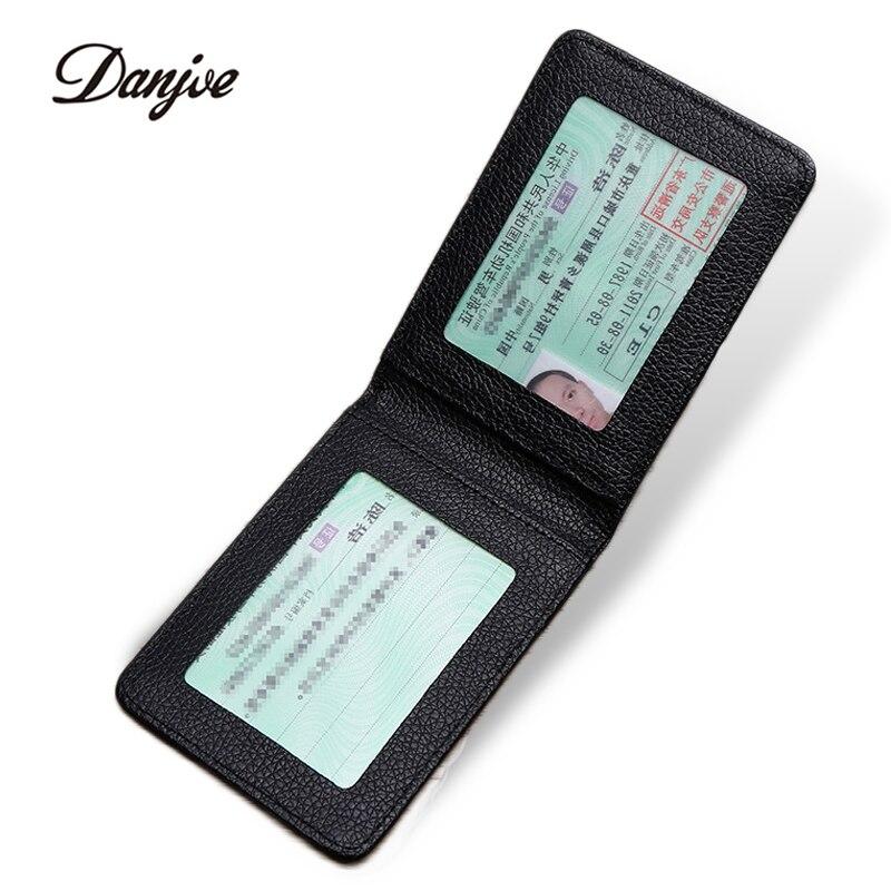 DANJUE Driver License Holder Genuine Leather Cover For Car Driving Documents Business Card Holder ID Card Holder Men Women