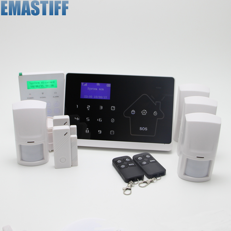 Hot selling home intercom Security GSM PSTN alarm system  850/ 900/1800/1900Mhz tie up pompons hidden wedge snow boots