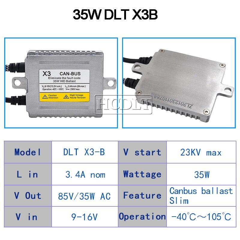 HCDLT AC 35W Xenon Canbus HID Ballast For Car Light Xenon HID Conversion Kit DLT X3 Canbus Error Free Digital Ballast Reactor (9)