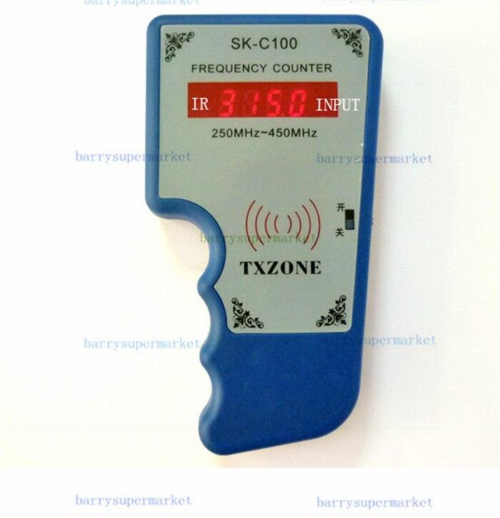 SK-C100 inalámbrico RF medidor de frecuencia portátil escáner contador probador Detector de onda 250 MHz-450 MHz