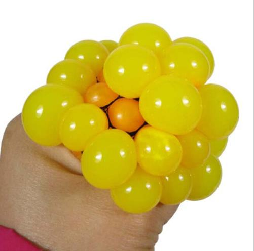 1Pc Cute Anti Stress Face Reliever Grape Ball Autism Mood Squeeze Relief Healthy Toy