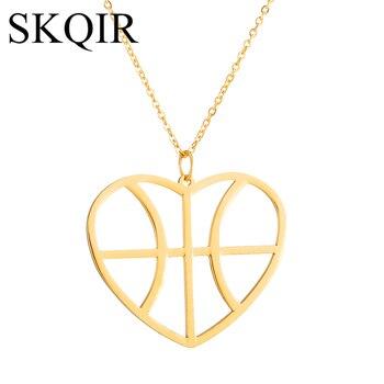 aaa27b6d4e88 SKQIR nuevo de moda de oro Color de corazón colgante