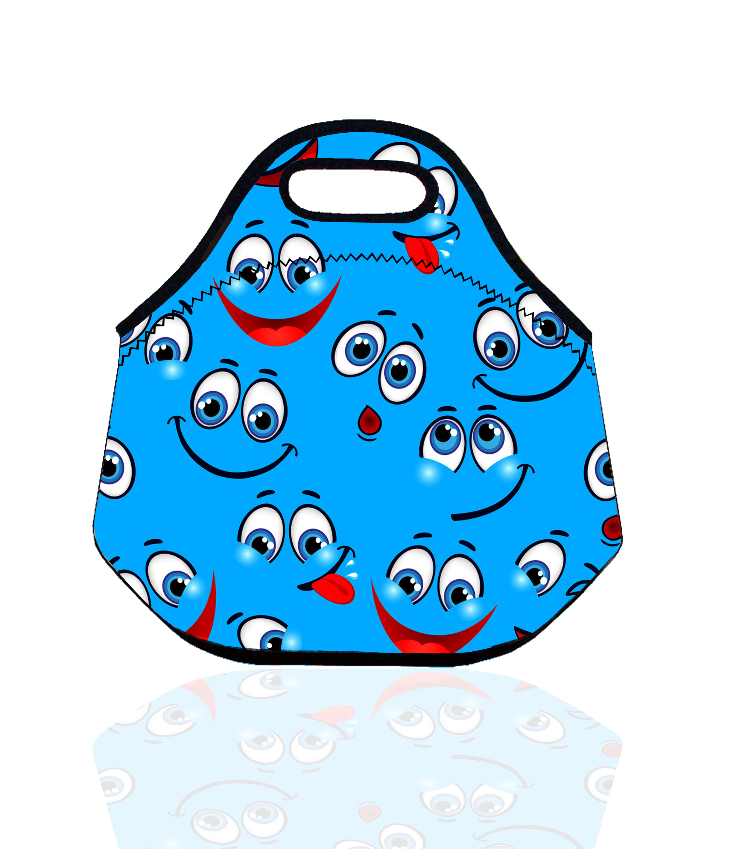 Smile Thermal Insulated Waterproof Lunch Bag for Women Kids Tote Lunch Storage Picnic Bag Pouch vacuum Box bolsa termica