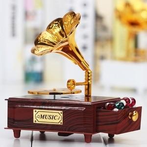 Vintage Gramophone Drawer Musi