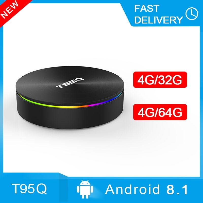 T95Q 4GB 32 GB/64 GB Android 8.1 Amlogic S905X2 TV BOX Quad Core 2.4/5.8G Wifi BT4.1 1000M H.265 4K lecteur multimédia Smart Box