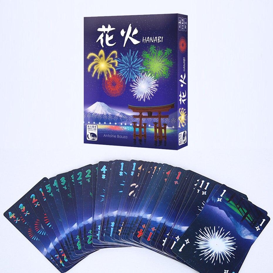 Смешная игра в карты ханаби Настольная игра 2-5 игроков best подарок для любителей Семья/вечерние/друзей/Дети развлечения