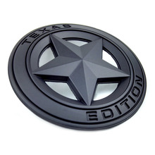 72mm Thick Metal Zinc TEXAS EDITION Hollow Out Star Badge Sticker Car Styling Decor for The JEEP Wrangler Liberty Grand Cherokee