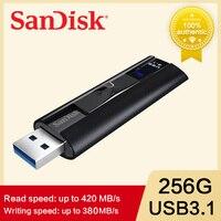 100% SanDisk CZ880 Extreme PRO 128GB USB 3.1 Flash Drive 256GB Pen Drive de alta velocidad 420 MB/S Pendrive negocios U disco