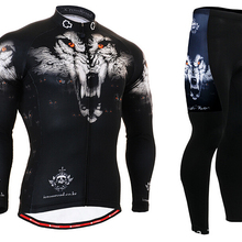 HOT Mens Cycling Jerseys Breathable Mountain Bike Clothing Wolf Long Sleeve  Cycling Clothings Wolf Head( 7fd6572d5