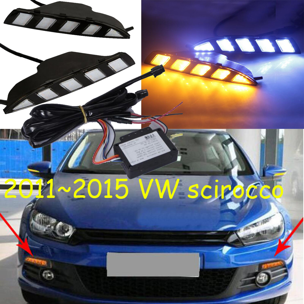 Video led daytime running light DRL turn signal for scirocco 2011 2015 car accessories Teramont Transporter