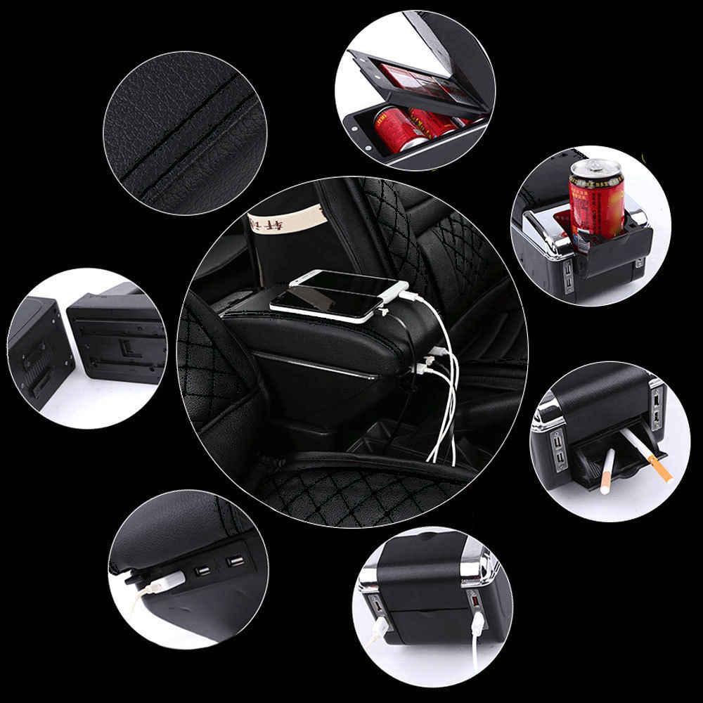 bbq fuka for 2011 2017 nissan juke pu leather armrest storage box tray center  [ 1000 x 1000 Pixel ]