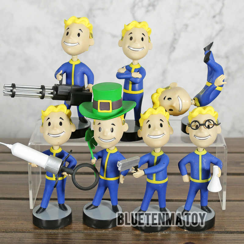 Fallout 4 Bobblehead Vault Boy Game Kepala Toy Seri 2 Action Figure Collectible Model Mainan