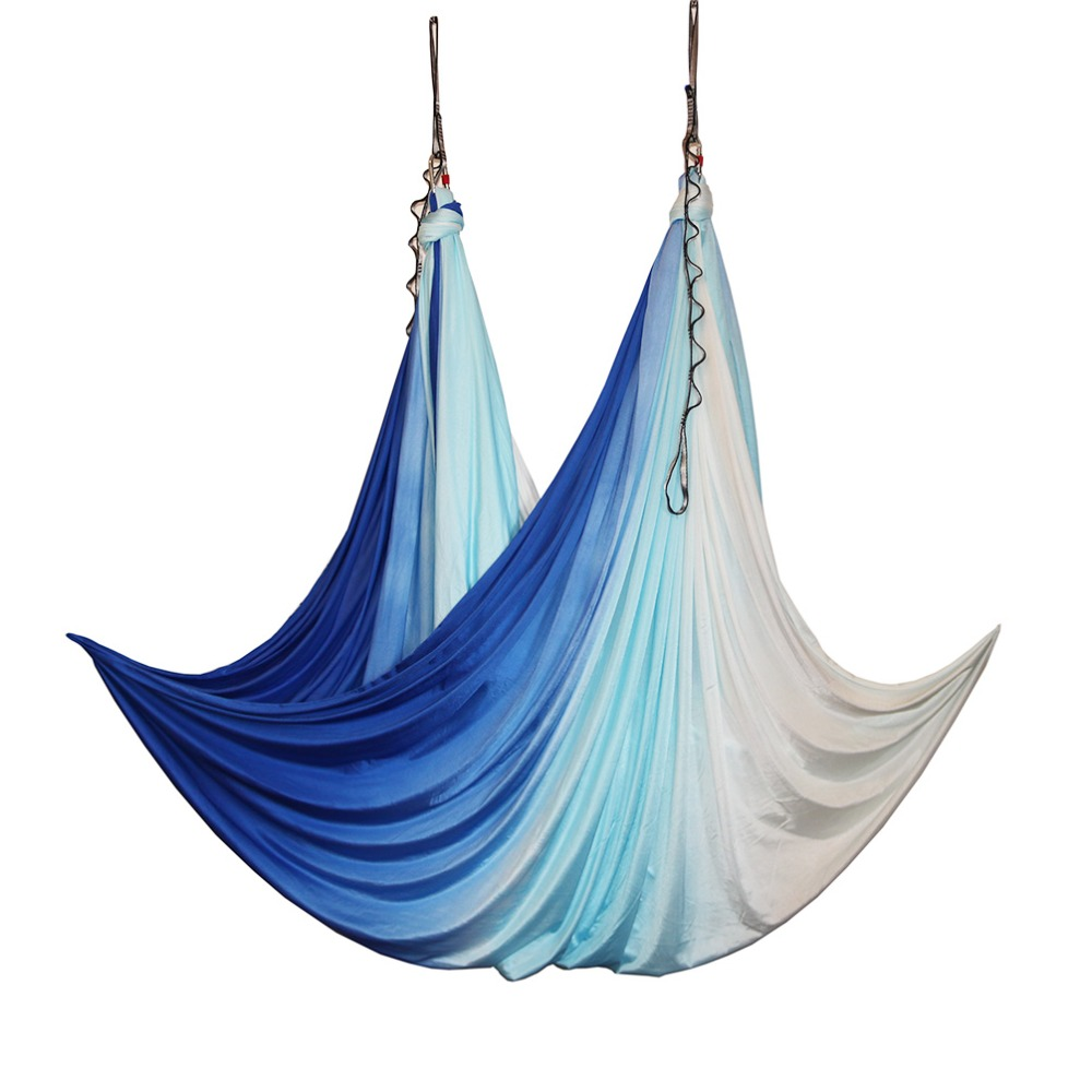 2018 New Arrival Aerial Anti gravity Yoga Hammock Swing Flying Yoga Bed Bodybuilding Gym Fitness Equipment Inversion Trapeze in Yoga Belts from Sports Entertainment