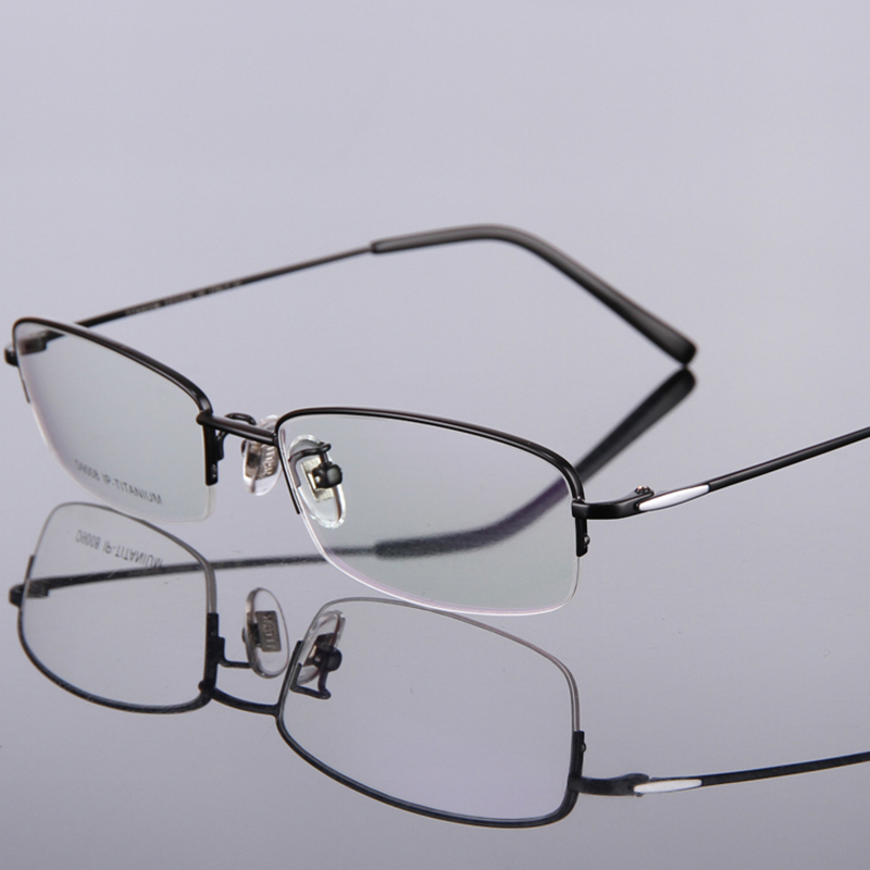quality pure titanium light prescription frames half rimmed men eyeglasses frame