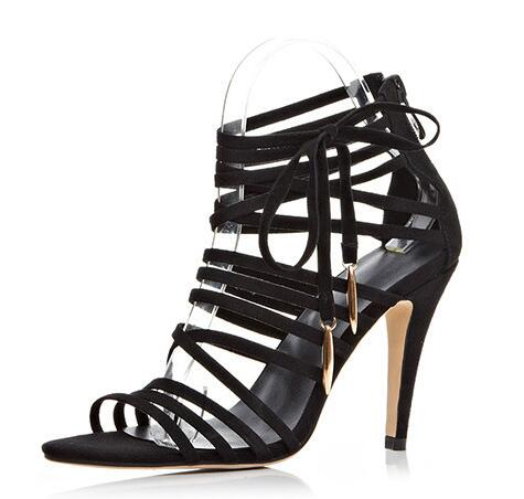 Sexy Women High Heel Sandals Summer Open Toe Nightclub Shoes Ladies Thin Heel Party Elegant Gladiator Sandalias Mujer Size 34-45 women shoes for summer open toe mesh laser gladiator sandal boots buckle strap thin high heels sandalias mujer ladies shoes