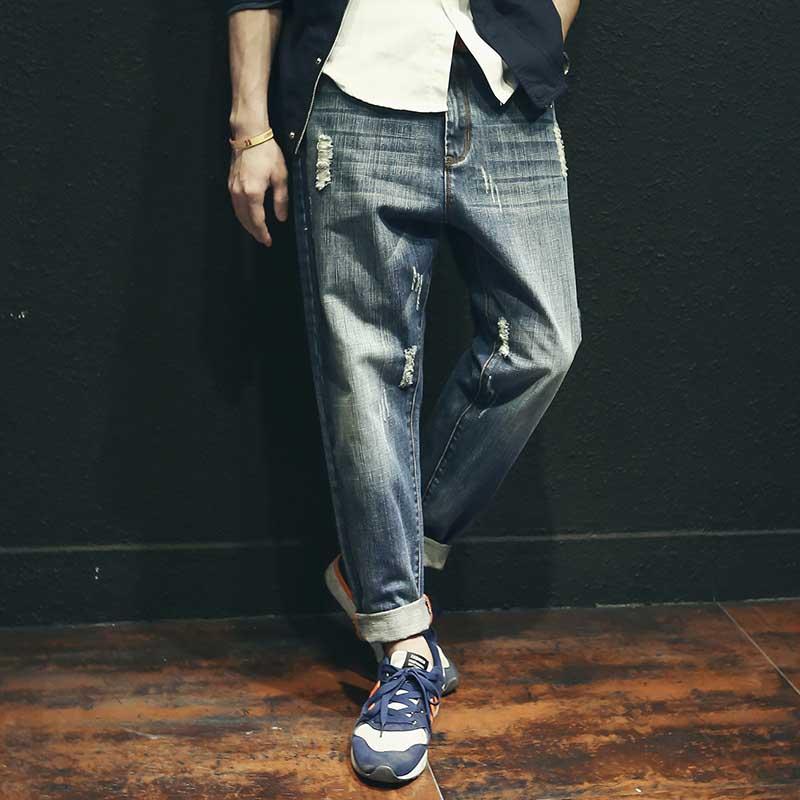 Модные мужские джинсы, джинсы из хлопка, свободные, мешковатые, винтажные, шаровары, брюки для бега, мужская одежда
