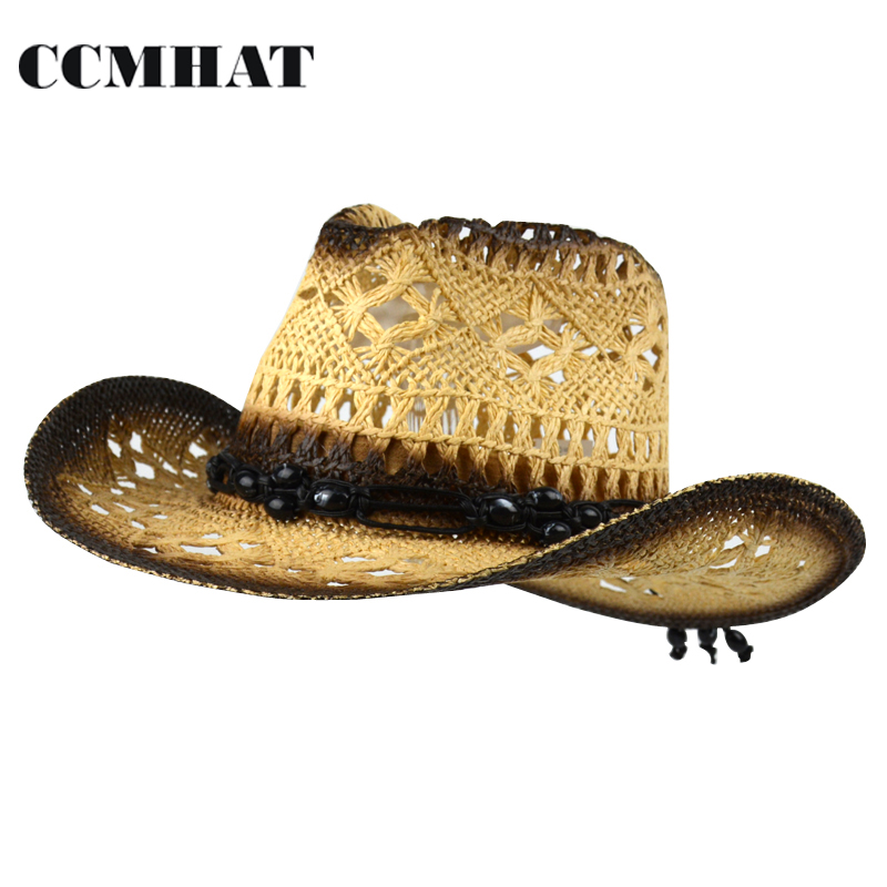 27a54c504 Cowboy Hats For Unisex Black Bead Decoration Men Cowboy Hat Summer Ladies  Cowboy Hat Solid Novelty Black Bead Cowboy Hat