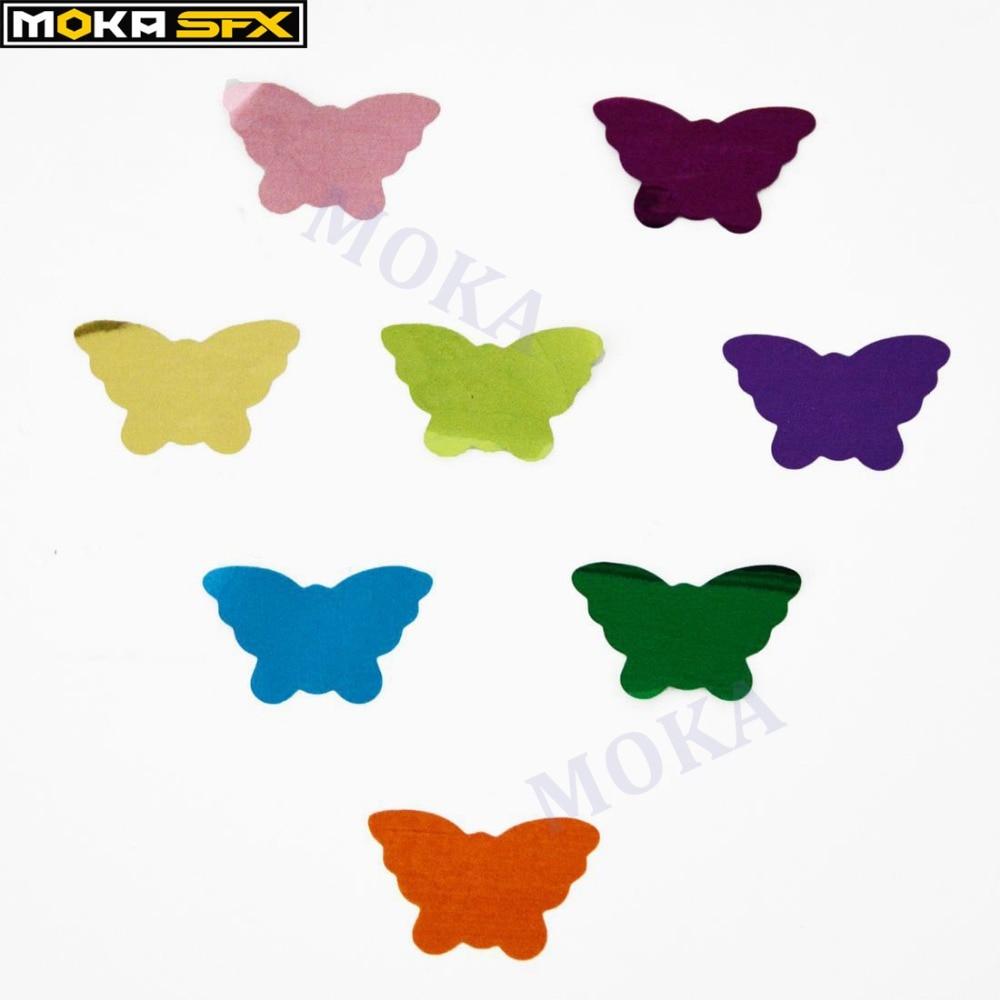 Mix colors confetti Butterfly for Glitter confetti connon machine in  stage effect with remote circle   3kg/bag  wholesale stage effect confetti machine machine confetti - title=