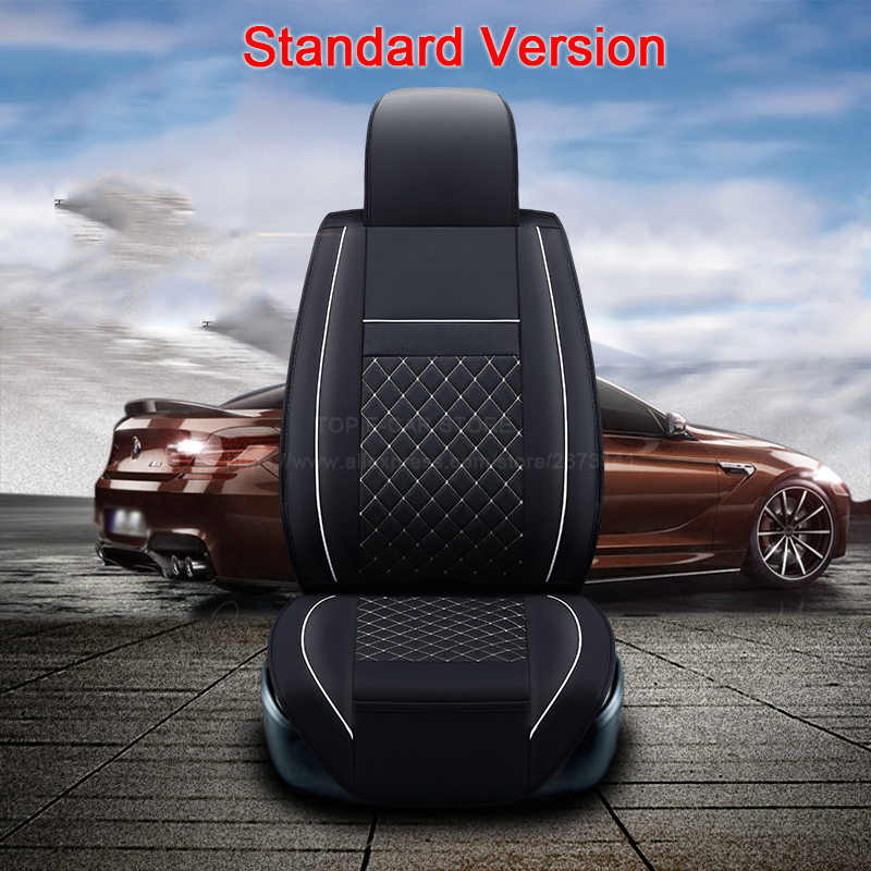 (Front +Rear)High quality leather universal car seat cushion seat Covers for Suzuki grand vitara swift sx4 cover accessories universal pu leather car seat covers front back seat cushion cover auto chair pad car interior accessories black
