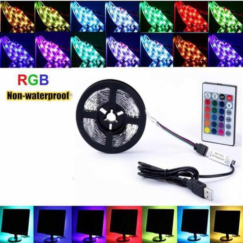 5 V USB Power LED Lampu Strip RGB/Putih/Warm White 2835 3528 SMD HDTV TV PC Desktop lampu Latar Layar & Bias Lampu 1 M 2 M 3 M 4 M