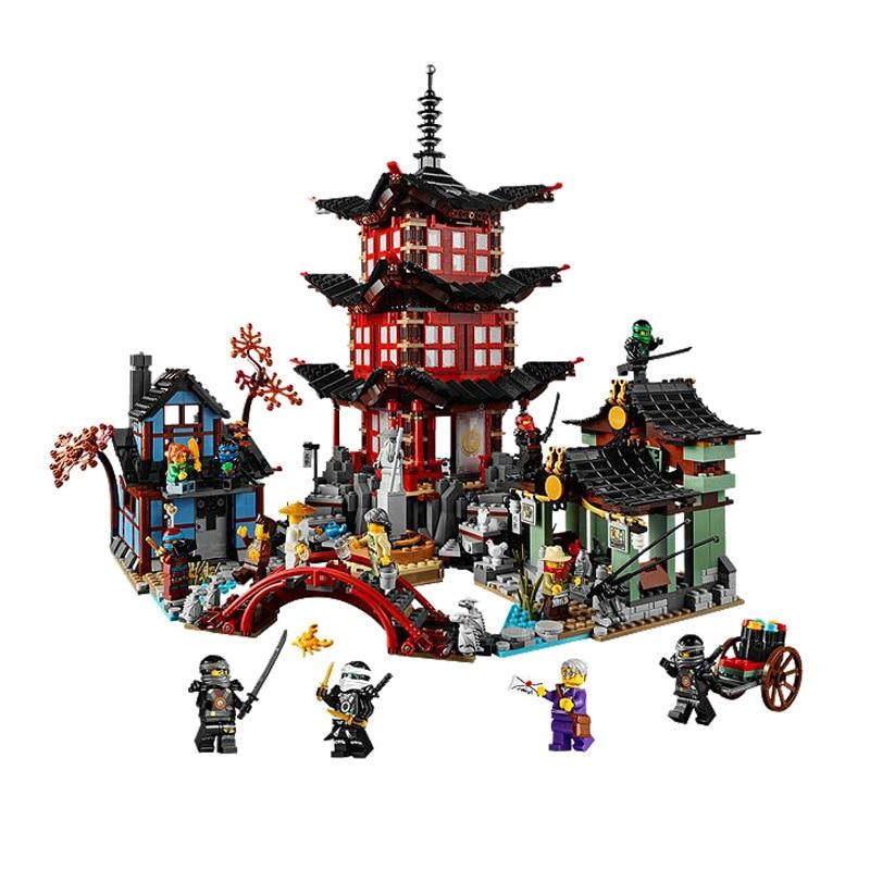 2150pcs 10427 van Stiix Tempel van Airjitzu Ninjagoe Thunder Zwaardvechter Bouwstenen Bricks Speelgoed 70751-in Blokken van Speelgoed & Hobbies op  Groep 1