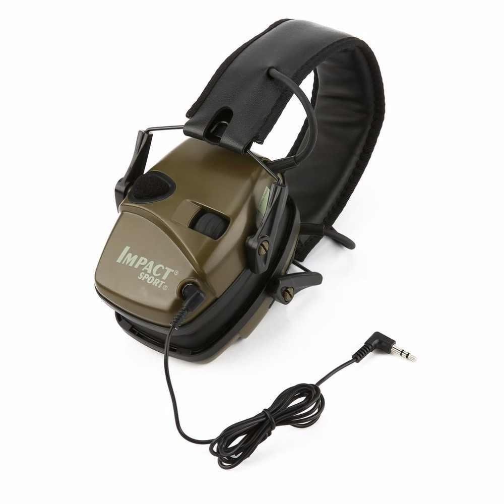 Спорт на открытом воздухе Анти-шум ударный Звук Усиление электронная стрельба наушник Тактический Охота слуховой защитный гарнитура