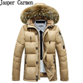 Бесплатная доставка 2017 высокое качество регулярный стиль пальто мужская куртка хлопка очень теплый меховой парка, новые мужские верхняя одежда 120hfx
