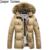 Envío gratis 2017 estilo normal de alta calidad para hombre de la capa parka de algodón parka de piel muy caliente, más nuevos mens ropa de abrigo 120hfx