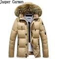 O envio gratuito de 2017 de alta qualidade estilo regular mens casaco parka de algodão parka de pele muito quente, mais novo mens outerwear 120hfx