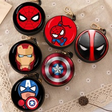 New Avengers Cartoon Coin Purse Iron Man Hulk Captain America Key Case Wallet Children Thanos Headset Bag Coin Bag For Marvel new comics dc marvel slim wallet the avengers hulk iron man captain america purse logo credit oyster license card wallet
