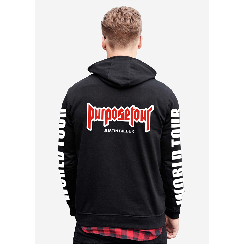 world star justin bieber purpose tour unisex hoodie. Black Bedroom Furniture Sets. Home Design Ideas