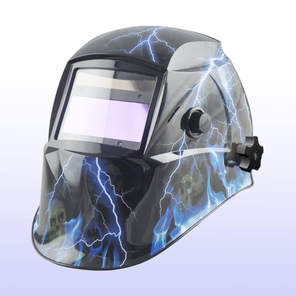Auto darkening welding helmet/welding mask/MIG MAG TIG(Yoga-616G)Flame/4 arc sensor flame skeleton auto darkening welding helmet for arc mag mig tig electric welder mask automatic darkening chrome brushed new
