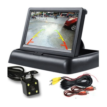 Whosale 4.3 Inch Car Monitor TFT LCD HD Digital 16:9/4:3 480*272 Screen 2 Way Video Input For Reverse Rear View Camera DVD VCD image