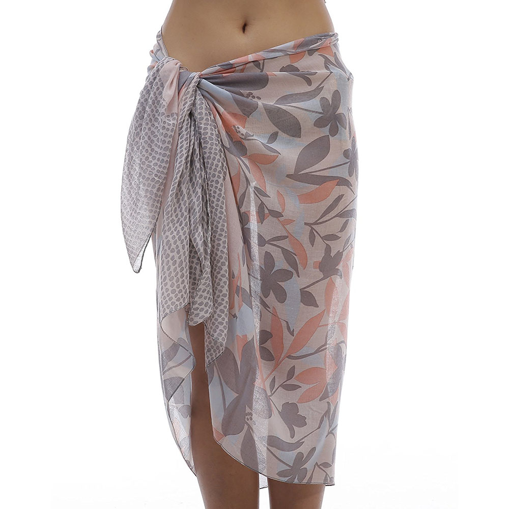 Fashion Women Sarongs Floral Soft Viscose Bikini Pareo Beach Sarong Swim   Wrap   Batik Bathing Suit Coverups V9A18824