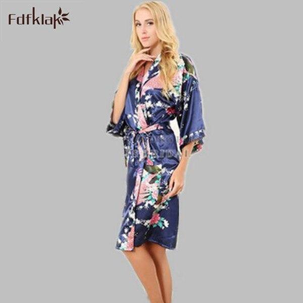 Marke Neue Lange Brautjungfer Robes Satin Seide Bademantel Nachthemd Für Frauen Kimono Sleepwear Blume Plus Größe Morgenmantel S-XXXL