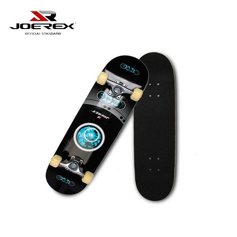 Joerex Professional China Maple 4 Wheels Double Rocker Skateboard 31 Inch Long Skate Board 6 5 adult electric scooter hoverboard skateboard overboard smart balance skateboard balance board giroskuter or oxboard