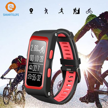 SMARTELIFE Sports activities GPS Sensible Wristbands Climbing Biking Operating Coronary heart Charge Monitor Bracelet Band Message Sync for Android iOS