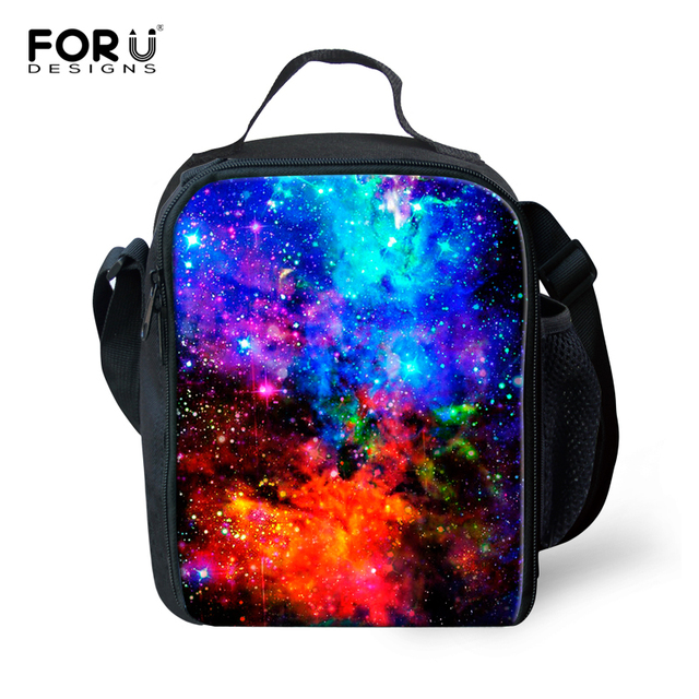 Fashion Galaxy Star Lunch Bags for Men Women Thermal Lunchbox Insulated Picnic Food Bag Children Lunch Bags Lancheira Escolar